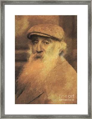 Camille Pissaro, Artist By Mary Bassett Framed Print