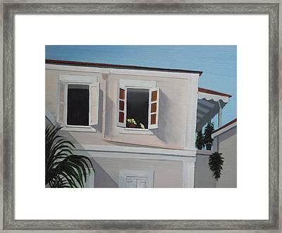 Camille Pissaro Courtyard Framed Print by Robert Rohrich