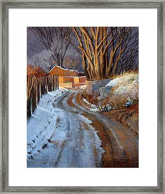 Caminito De Tesuque Framed Print by Donna Clair