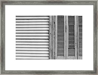 Caminito Windows Bw Framed Print