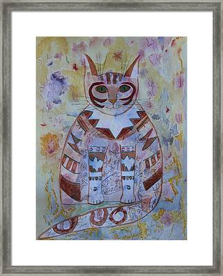Camo Cat Framed Print