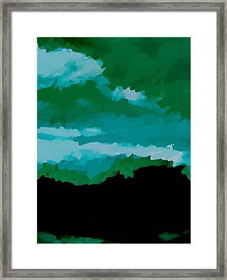 Camo Land Framed Print