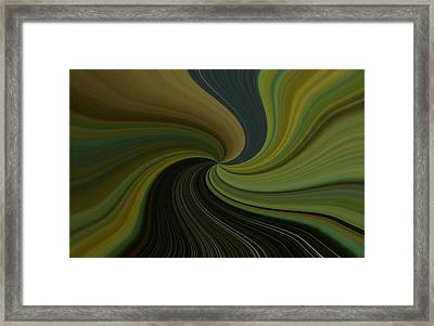 Camo Twist Framed Print by Joshua Sunday
