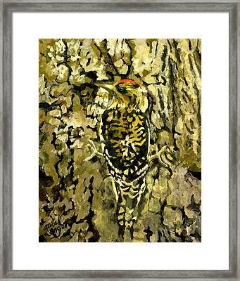 Camouflage Framed Print by Alice Leggett