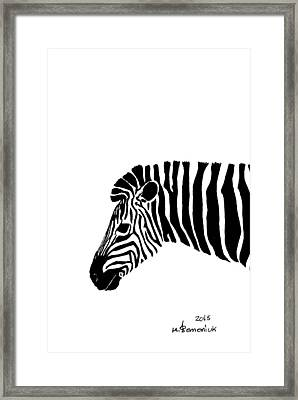Camouflaged Profile Framed Print by Kayleigh Semeniuk