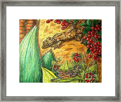 Camouflage...is It Working? Framed Print by Kim Jones