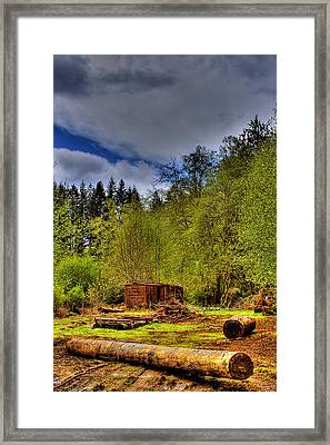 Camp 18 Railroad Car Framed Print by David Patterson