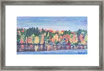 Camp Archbald At Ely Lake Framed Print