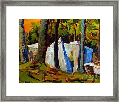 Camp At Flint Ridge Framed Print by Charlie Spear