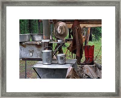 Camp Kitchen Framed Print