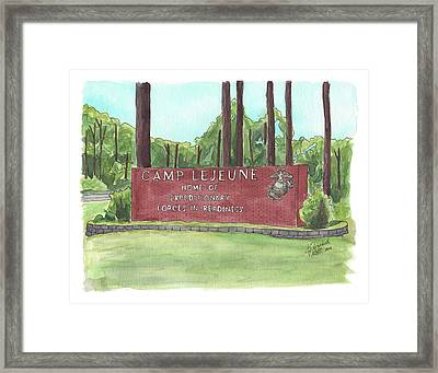Camp Lejeune Welcome Framed Print
