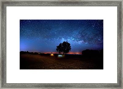 Framed Print featuring the photograph Camp Milky Way by Mark Andrew Thomas