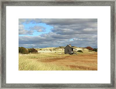 Framed Print featuring the photograph Camp On The Marsh And Dunes by Roupen  Baker