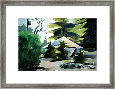 Framed Print featuring the painting Camp Patoka Matted Framed Glassed by Charlie Spear