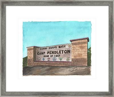 Camp Pendleton Welcome Framed Print