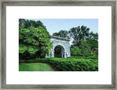 Camp Randall Memorial Arch Framed Print