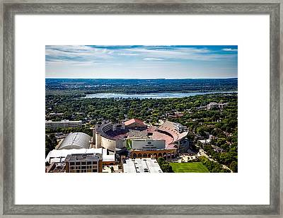 Camp Randall Stadium - Madison Wisconsin Framed Print by Mountain Dreams