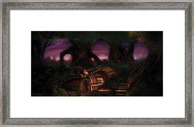 Camp Seve And Timber Framed Print