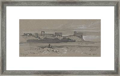 Campagna Di Roma Framed Print by Edward Lear