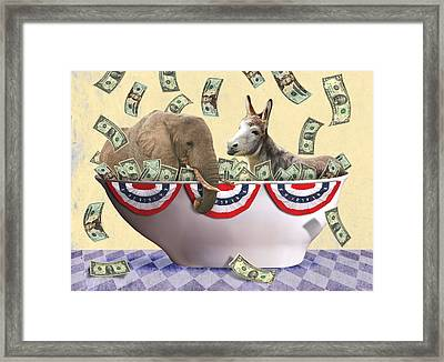 Campaign Financing Framed Print by Steve Dininno