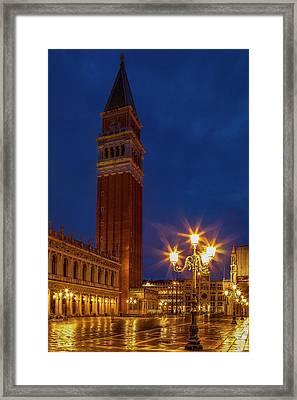 Campanile Di San Marco Framed Print by Andrew Soundarajan