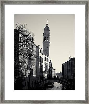 Framed Print featuring the photograph Campanile, San Giorgio Dei Greci, Venice, Italy by Richard Goodrich