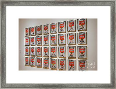 Framed Print featuring the photograph Campbell Soup By Warhol by Patricia Hofmeester