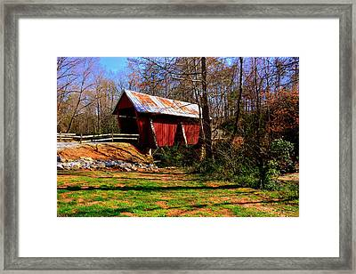 Campbell's Covered Bridge Est. 1909 Framed Print