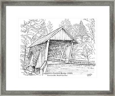 Campbell's Covered Bridge Framed Print by Greg Joens