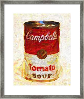Campbells Tomato Soup Framed Print by Wingsdomain Art and Photography