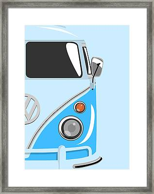 Camper Blue 2 Framed Print by Michael Tompsett