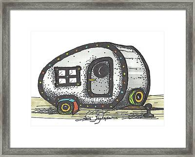 Camper, Gray Framed Print