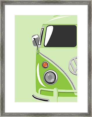 Camper Green Framed Print