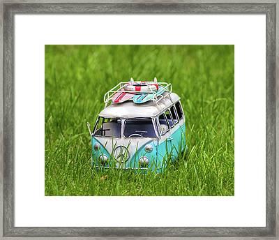 Camper Framed Print by Martin Newman