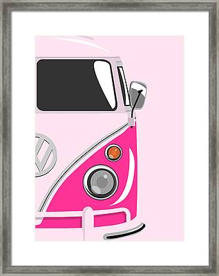 Camper Pink 2 Framed Print by Michael Tompsett