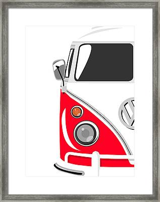 Camper Red Framed Print