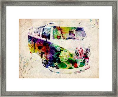 Camper Van Urban Art Framed Print by Michael Tompsett