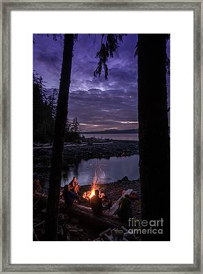 Campfire @ Orca Camp Framed Print by Dragonfly 'n' Brambles Imagery