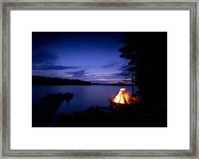 Campfire Framed Print by Cale Best
