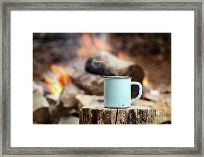 Framed Print featuring the photograph Campfire Coffee by Stephanie Frey