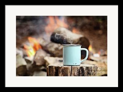 Campfire Framed Prints