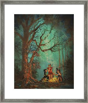 Campfire Ghost Framed Print