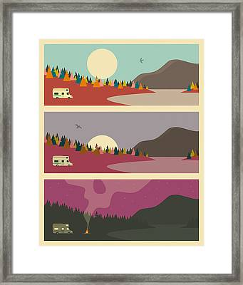 Campfire Framed Print by Jazzberry Blue