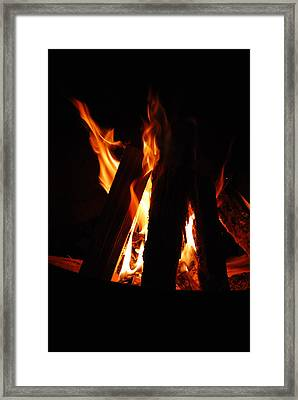 Campfire Framed Print by Kimberly Camacho