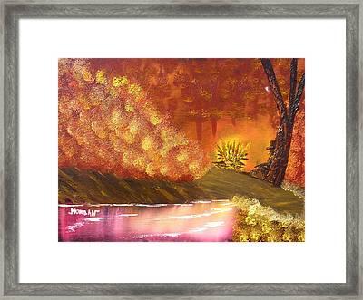 Campfire Framed Print by Sheldon Morgan
