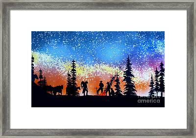 Campfire Tales Framed Print by Ed Moore