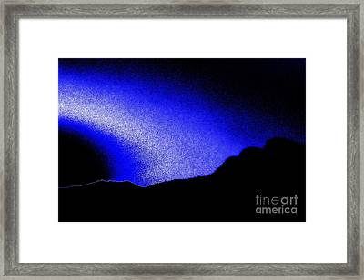 Camping Blues Framed Print