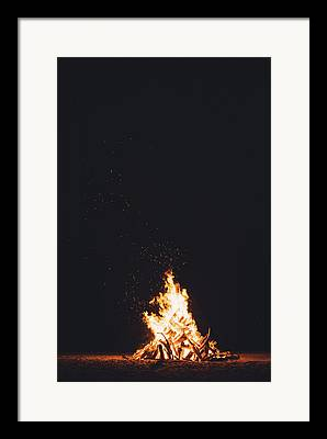 Fire Wood Framed Prints