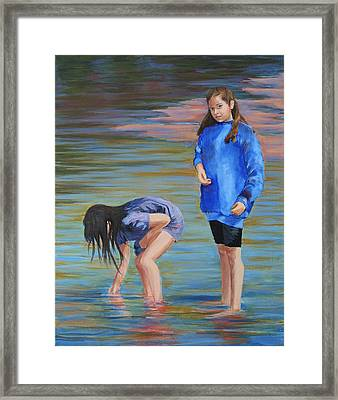 Camping On The Pemigewasset Framed Print