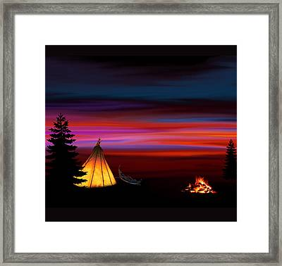 Camping Framed Print by Art Spectrum